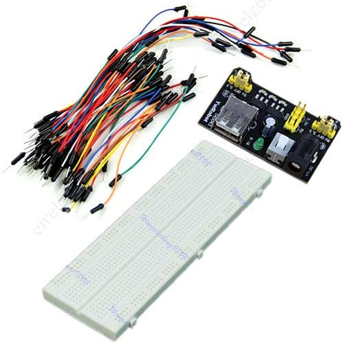 South-Dragon - MB-102 830 Point Solderless Breadboard PCB +Power Supply+65pcs Jump Cable Wires C26