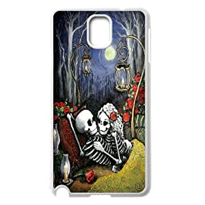 Romantic Skeleton Couple in Lve with Rose Samsung Galaxy Note 3 Case White