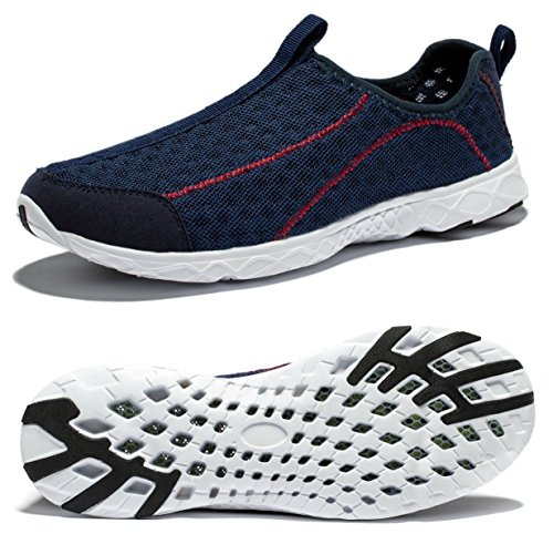Viihahn Men's Breathable Mesh Waterproof Slip-On Quick Drying Aqua Water Shoes Size 10 US Navy