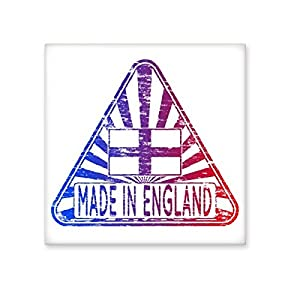 durable modeling Made In England UK Triangle England Landmark Flag Mark Illustration Pattern Ceramic Bisque Tiles for Decorating Bathroom Decor Kitchen Ceramic Tiles Wall Tiles