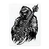 Glass Cutting Board Large Grim Reaper Heavy Metal Rock Player