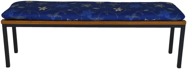 Angerer Cuscino per panca 45 x 150 cm, Design Corfù blu (senza panca) 713/089