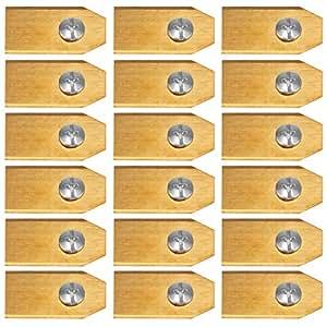 Hitsan - Cuchilla de titanio para cortacésped de automóvil, Husqvarna y Gardena (0,6 mm)