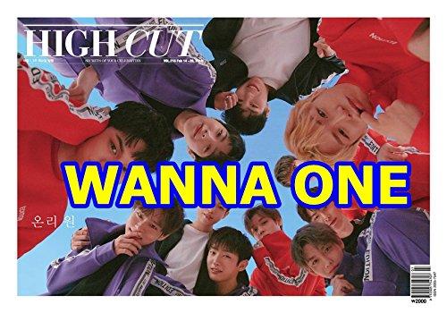 HIGH CUT 216号 A型/表紙:WANNA ONE【7点構成】本册+記事翻訳+ WANNA ONEポスター2枚+WANNA ONEはがき2枚+STICKER/韓国版/の商品画像