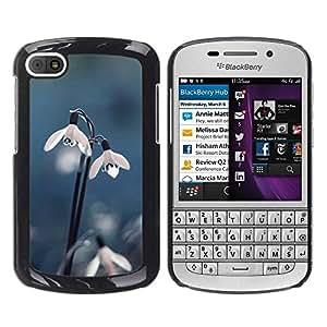 """Pulsar Snap-on Series Teléfono Carcasa Funda Case Caso para BlackBerry Q10 , Flor de Nieve Rocío primavera azul del invierno"""""""