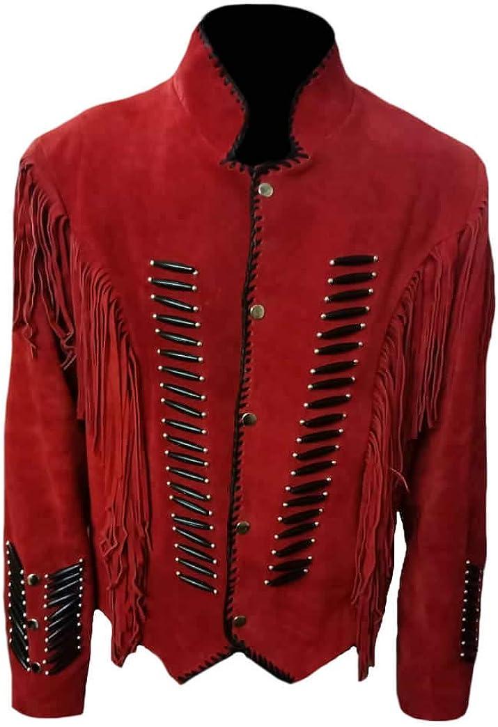 SleekHides Womens Western Suede Leather Fringed Stylish Jacket