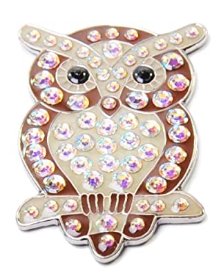 Navika Owl Swarovski Crystal Ball Marker with Hat Clip