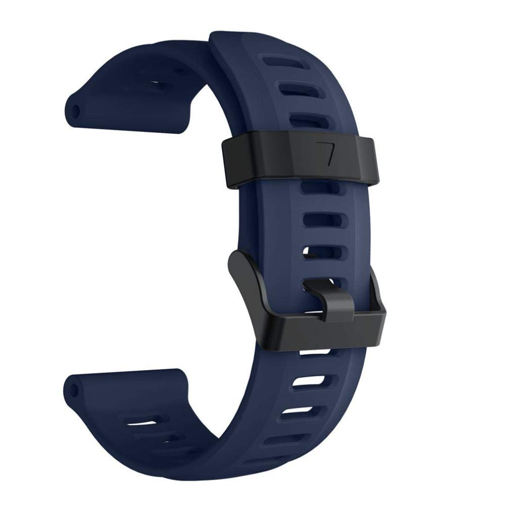 For Garmin Fenix 5X Plus,KFSO Soft Silicone Strap Replacement Watch Band (Navy)
