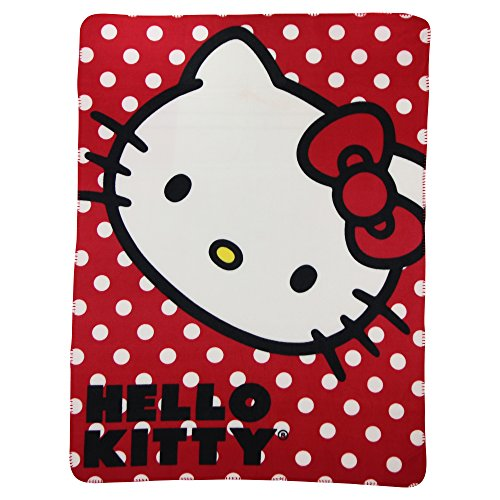 Kids Fleece Throw Blankets 50 x 60 Several Options - Hello Kitty (Hello Kitty Gifts)