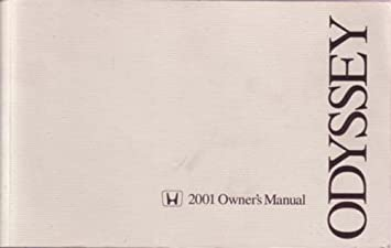 amazon com 2001 honda odyssey owners manual user guide reference rh amazon com 2001 Odyssey Disco Brooklyn 1999 Odyssey