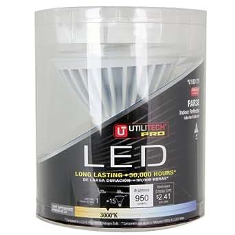 Utilitech 20-Watt (90W) PAR38 Base Warm White (3000K) Outdoor Decorative LED Bulb 180170