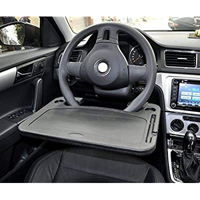 Cutequeen Trading car 1pcs Eating/Laptop Steering Wheel Desk Black(Pack of 1): Automotive