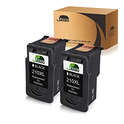 - JARBO Remanufactured for Canon PG-210XL 210 XL Ink Cartridges, 2 Black, Used in Canon PIXMA MP495 IP2702 MP230 MP240 MP250 MP280 MP480 MP490 MP499 MX330 MX340 MX350 MX410 MX420 Printer