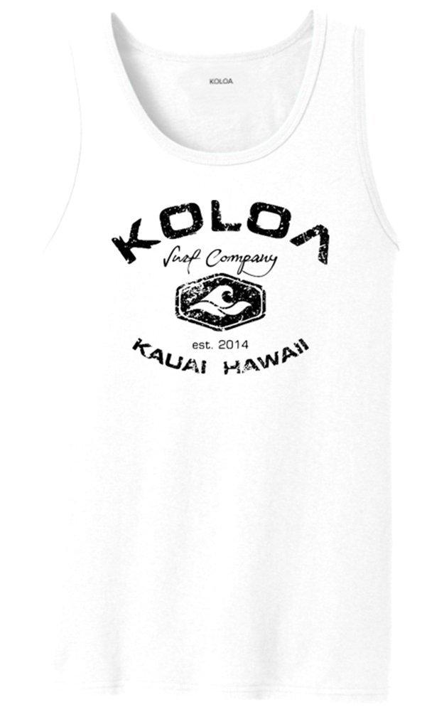 Koloa Surf(tm) Vintage Arch Logo Tank Top-White/b-L