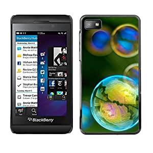 TopCaseStore / la caja del caucho duro de la cubierta de protección de la piel - Reflection Iridescent Yellow Teal Green - Blackberry Z10