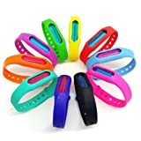 Bug Mosquito Repellent Bracelet (4 Packs) Insect Protection 100% Natural, Waterproof Anti Mosquito Bracelet Wristband for Kids Adult , Deet-Free Plant-Based Oil Band