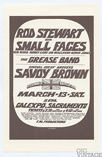 (Rod Stewart with Small Faces Savoy Brown 1971 Mar 12 CALEXPO Sacramento Handbill Randy Tuten)