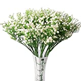 10pc Artificial Baby Breath Gypsophila Flower Wedding Home Decor Gift (white)