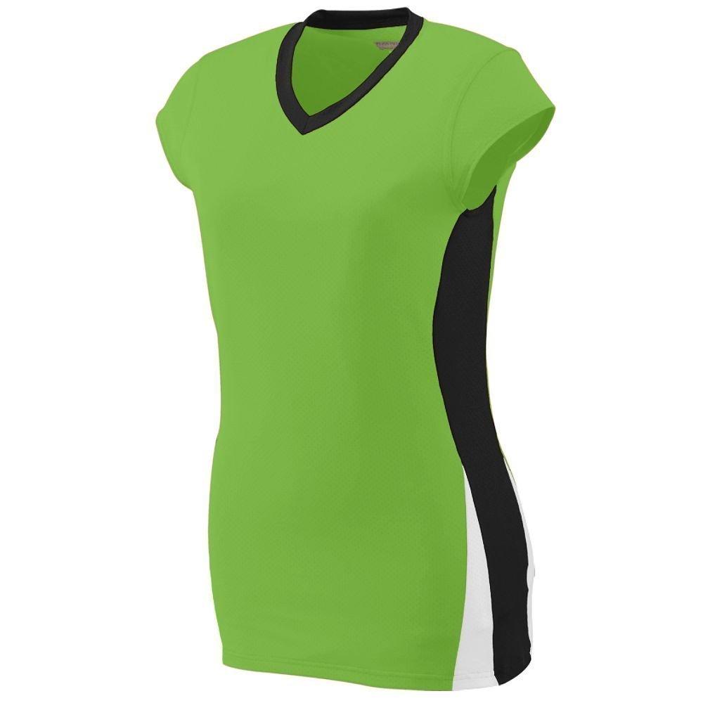 Augusta Sportswearレディースヒットジャージー B00HJTP9V0 Medium|ライム/ブラック/ホワイト ライム/ブラック/ホワイト Medium