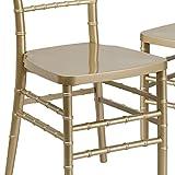"""Flash Furniture Hercules Premium Series Resin Stacking Chiavari Chair (2 Pack), 14"""", Black"""