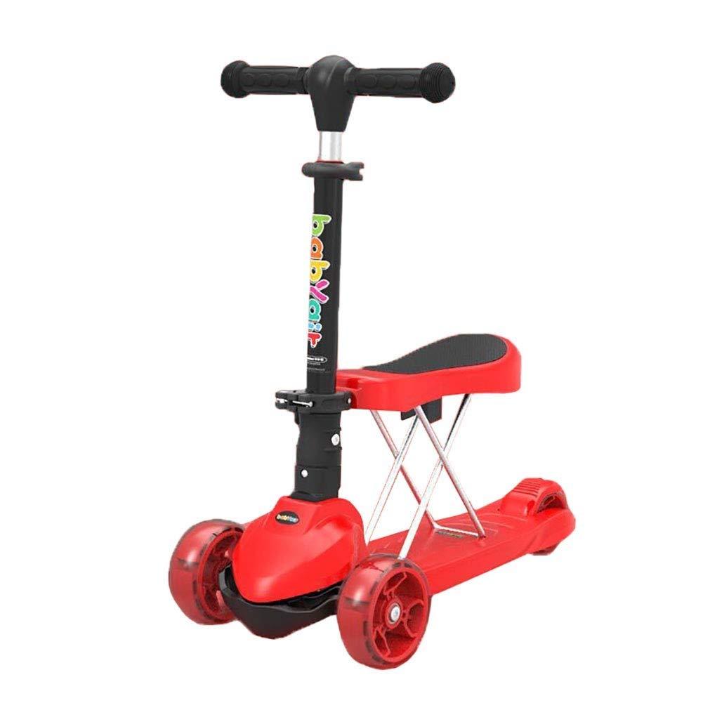 『4年保証』 スクーターを蹴る子供たち 赤 折りたたみクールスクーター、自転車3輪スイング車 (色 (色 : B07R518FLZ ピンク) B07R518FLZ 赤 赤, MPLAMPS JAPAN:aa59ab0e --- 4x4.lt
