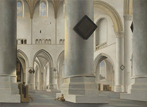 Perfect Effect Canvas ,the Vivid Art Decorative Canvas Prints Of Oil Painting 'Pieter Saenredam The Interior Of The Grote Kerk At Haarlem ', 10 X 14 Inch / 25 X 35 Cm Is Best For Dining Room Decor And Home Decor And Gifts