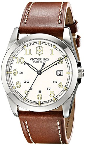 Victorinox Unisex 241564 Infantry Analog Display Swiss Quartz Brown Watch