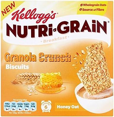 de Kellogg Nutrigrain Granola Crunch Galletas de avena y miel 6 x ...