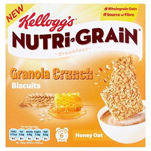 de Kellogg Nutrigrain Granola Crunch Galletas de avena y miel 6 x 40g: Amazon.es: Alimentación y bebidas