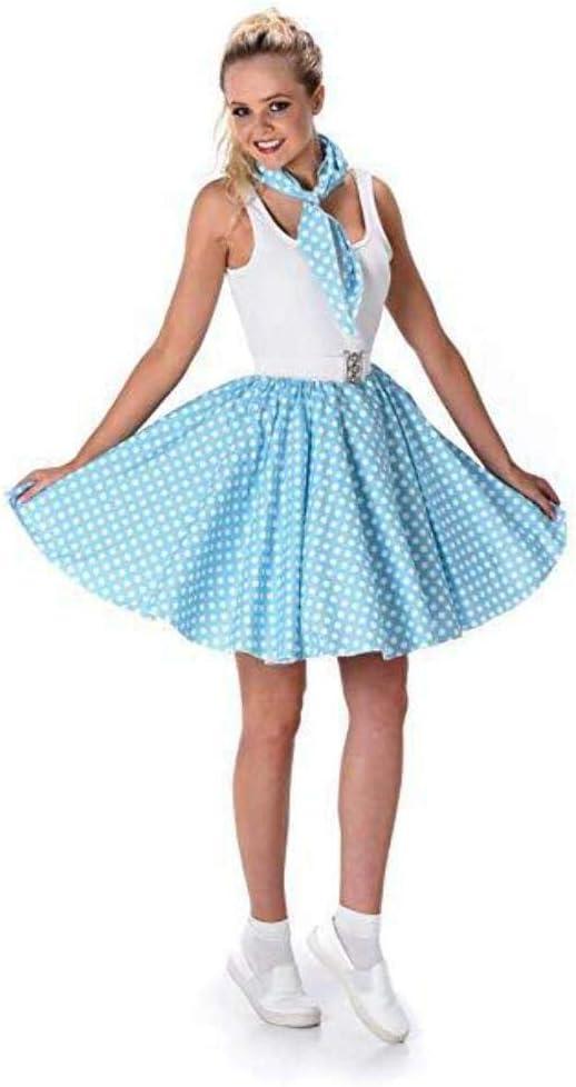 Generique - Disfraz años 50 Azul Claro Mujer M: Amazon.es ...