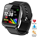 ZOTOYI Fitness Tracker, Z02 Smart Watch Heart Rate Monitor Smart Bracelet IP67 Waterproof Built-in Blood Pressure Monitor Calorie Counting Pedometer Watch for Android and iOS System