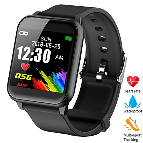Fitness Tracker, ZOTOYI  Z02 Smart Watch Heart Rate Monitor Smart Bracelet IP67 Waterproof Built-in Blood Pressure Monitor Calorie Counting Pedometer Watch for Android and iOS - Monitors Rate Heart Waterproof