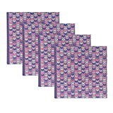 DesignOvation Pink and Purple Chevron Photo Album, Holds 200 4x6 Photos, Set of 4