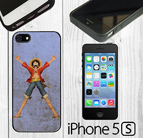 Peice of One Pirate Luffy King Custom made Case/Cover/skin FOR iPhone 5/5s - Black - Rubber Case ( Ship From - One Peice Hd