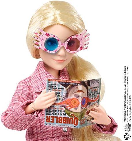 HARRY POTTER- Personaggio Articolato Luna Lovegood con Bacchetta Giocattolo da Collezione per Bambini 6+Anni, GNR32