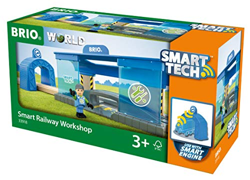 (Brio World - 33918 Smart Railway Workshop | 3 Piece Toy Train Accessory for Kids Ages 3 and Up)