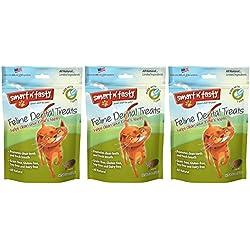 (3 Pack) Smart n' Tasty Cat Tuna Dental Grain-Free Treats 3 Ounces each