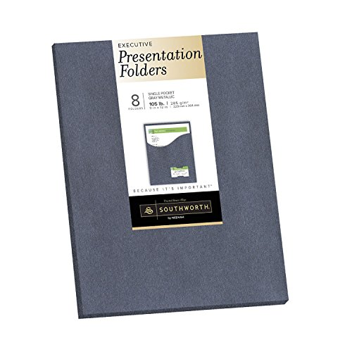 Southworth Executive Single Pocket Presentation Folders, 9