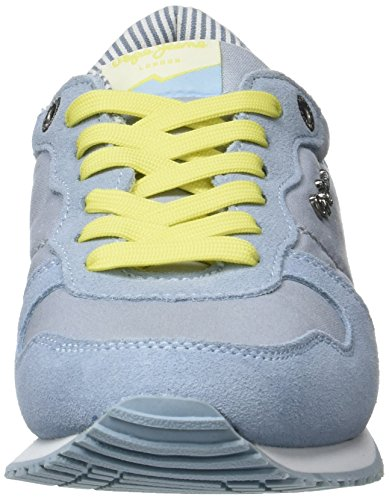 Pepe Jeans Damen Gable Monocrome Sneaker Blau (sky)
