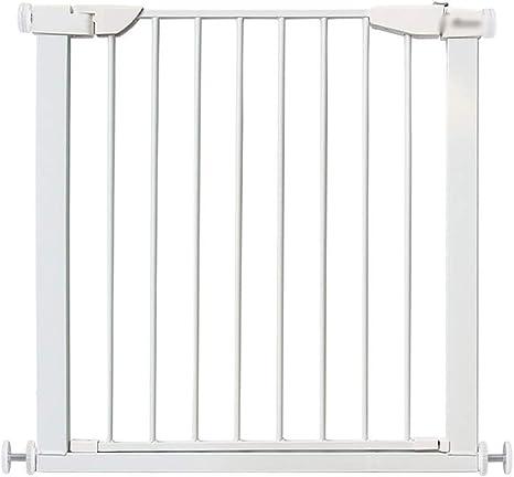 MLX Puerta de seguridad for bebés, puerta de seguridad con presión, puerta de protección for escaleras, fácil acceso a través, apta for habitaciones con balcón con escalera, blanco (Size : 82~89CM): Amazon.es: