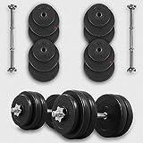 20KG Dumbbell Set Vinyl Gym Free Weights Biceps Fitness Dumbbells (Set)