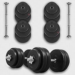 We R Sports® 20KG 30KG 40KG 50kg Dumbbell Set Vinyl Gym Fre...
