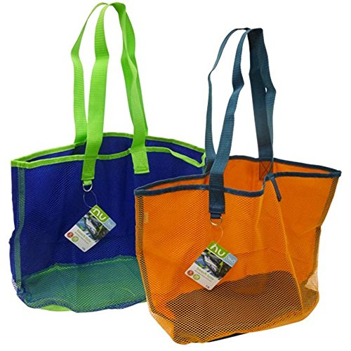 "Price comparison product image Blue Avocado 14"" Nu Reusable Mesh Beach Tote Bag - (Randomly Selected Blue or Orange)"
