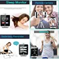 Bluetooth Smart Watch Fitness Tracker - Sport Watch Touch Screen with Camera Pedometer Sleep Monitor Call/Message Reminder Music Player Anti-Lost - Compatible Android Smartwatches