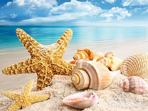 ZHENC 5D Beach Starfish Shell DIY Square Diamond Painting Animals Embroidery Full Drill Craft Decor Cross Stitch Kits