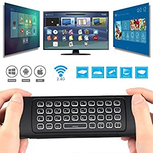 REIIE Backlit 2.4G MX3 Pro Multifunctional Wireless Mini Keyboard And Infrared Remote Learning For KODI, Google Android Smart TV/Box, IPTV, HTPC,Mini PC,Windows,MAC OS,Linux OS,PS3, Xbox 360