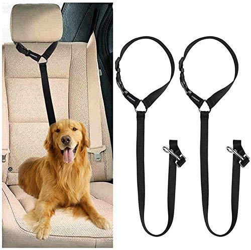 51c%2BLL3ohsL CGBOOM Universal Hunde Sicherheitsgurt fürs Auto Kopfstütze, Multifunktions Verstellbar Hundegurt Sicherheitsgeschirr…