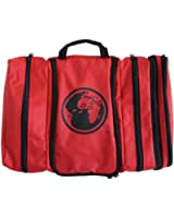 Davidsbeenhere Hanging Travel Toiletry Cosmetics Bag Kit (red)