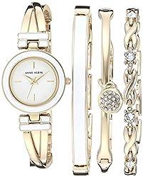 Swarovski Crystal Accented Bracelet Watch