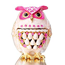 Trinket Box Hinged Hand-Painted owl